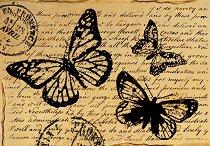 Декупажна хартия - Ръкопис 120 - Формат А4