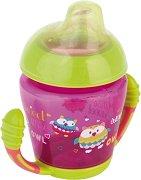Неразливаща се чаша с мек накрайник и дръжки - 230 ml - За бебета над 9 месеца - залъгалка