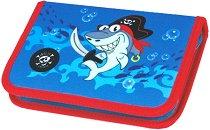 Несесер с ученически пособия - Акула - детски аксесоар