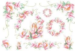Декупажна хартия - Цветя и феи 044 - Размери 48 x 33 cm