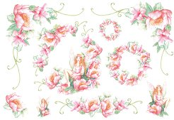 Декупажна хартия - Цветя и феи 044