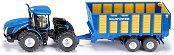 """Трактор с ремарке - New Holland T - Метална играчка от серията """"Farmer: Tractors with trailers"""" - играчка"""
