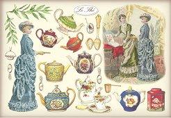 Декупажна хартия - Чай 120 - Размери 48 x 33 cm