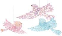 Висяща декорация за детска стая - Блестящи птици -
