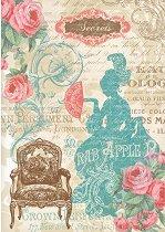 Декупажна хартия - Lady Versailles 046 - Формат А4