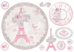 Декупажна хартия - Bonjour 297 - Размери 48 x 33 cm