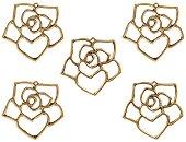 Метални висулки - Цветя - Комплект от 5 броя
