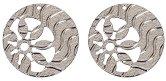 Метални висулки - Кръгове - Комплект от 2 броя