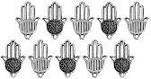 Метални висулки - Ръката на Фатима - Комплект от 10 броя