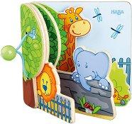 Дървена книжка - Зоо - играчка