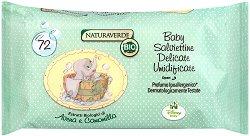 Бебешки мокри кърпички с екстракти от овес и лайка -  Bio Disney Baby - Опаковка от 72 броя -