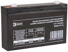 OT 7-6 6V / 7 Ah - Оловно-киселинна батерия с размери 151 / 34 / 94 mm -