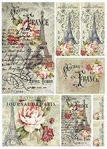 Декупажна хартия - Франция 025 - Формат А4