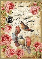 Декупажна хартия - Птици 034 - Формат А4