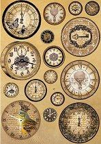 Декупажна хартия - Часовници 093 - Формат А4