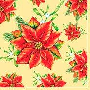 Салфетки за декупаж - Коледни звезди - Пакет от 20 броя