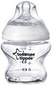 Бебешко стъклено шише за хранене - Closer to Nature: Easi Vent 150 ml - Комплект със силиконов биберон за новородени -