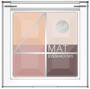 Bell 4 Mat Eyeshadows - Четирицветни матови сенки за очи - крем