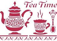 Шаблон - Tea Time - Размери 20 x 15 cm