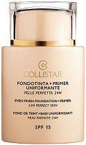 Collistar Even Finish Foundation + Primer - SPF 15 - Фон дьо тен и база 2 в 1 за всеки тип кожа - серум