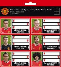Етикети за тетрадки - ФК Манчестър Юнайтед - Комплект от 18 броя - детски аксесоар