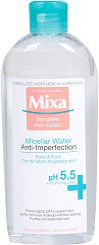 """Mixa Anti-Imperfections Micellar Water - Мицеларна вода против несъвършенства от серията """"Anti-Imperfections"""" - маска"""