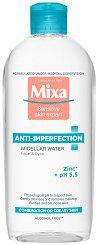 "Mixa Anti-Imperfections Micellar Water - Мицеларна вода против несъвършенства от серията ""Anti-Imperfections"" - крем"