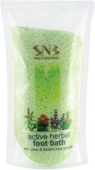 SNB Active Herbal Foot Bath - Активни соли за омекотяване на груба кожа по ходилата - пяна