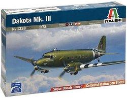 Военен транспортен самолет - Dakota Mk.III - Сглобяем авиомодел - релса