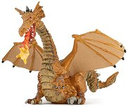 Златен дракон с пламък - фигура