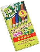 Къси цветни моливи - Kinderfest Mini - Комплект от 6 броя