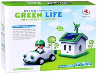 Соларна къща и кола - Детски еко конструктор - играчка