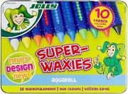 Акварелни восъчни пастели - Superwaxies Aquarell - Комплект от 10 цвята в метална кутия