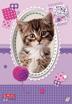 """Скицник за рисуване - Котенце - Формат A4 от серия """"Pretty Pets"""""""