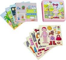 Облечи Лили - Детски комплект с магнити - играчка