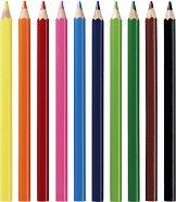Цветни моливи - Jumbo - Комплект от 10 цвята