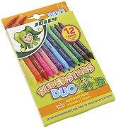 Двувърхи флумастери - Superstars Duo - Комплект от 12 и 24 цвята