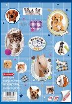 """Скицник за рисуване със стикери - Животинки - Формат A4 от серия """"Pretty Pets"""""""