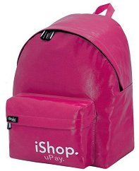 Ученическа раница - iShop Pink - Комплект с несесер за химикалки -