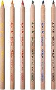 Тристенни цветни моливи - Trilino - Комплект от 6 или 12 цвята