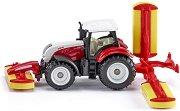 """Трактор с косачка Pottinger - Steyr CVT 6230 - Метална играчка от серията """"Super: Agriculture"""" - играчка"""