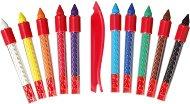 Восъчни цветни пастели - Комплект от 10 цвята в метална кутия