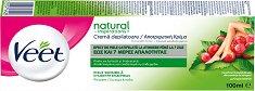 Veet Natural Inspirations Hair Removal Cream - Депилиращ крем за тяло с масло от гроздови семки за чувствителна кожа - масло