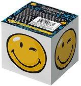 Бяло хартиено кубче - Happy