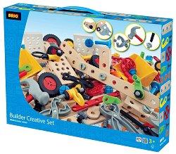 Детски конструктор с дървени елементи - играчка