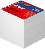 Бяло хартиено кубче - С 900 квадратни листчета с размери 9 x 9 cm