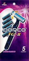 Dorco TG-II - Мъжка самобръсначка за еднократна употреба в опаковка от 5 броя - продукт