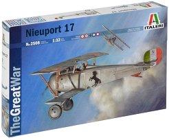 Военен самолет-биплан - Nieuport 17 - Сглобяем авиомодел -