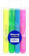 Текстмаркер със скосен връх - Неон - Комплект от 4 цвята