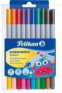 Двуцветни флумастери - Colorella Twin - Комплект от 20 цвята